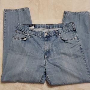 Land's End Light Wash Straight Jeans sz 37
